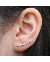 Anne Sisteron - Pink 14kt Rose Gold Diamond Shooting Star Ear Cuff - Lyst
