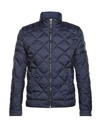 BOSS Orange | Blue Iridescent Quilted Jacket: 'oprato' for Men | Lyst