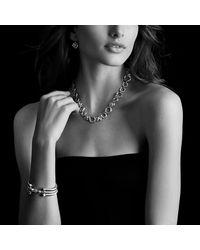 David Yurman | Metallic Cable Classics Bracelet With Smoky Quartz, Diamonds And 18k Gold, 5mm | Lyst