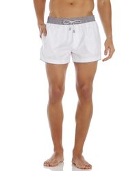 Dolce & Gabbana | White & Grey Swim Trunks for Men | Lyst