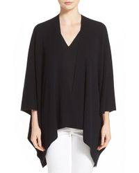 VINCE | Black Luxe Poncho | Lyst