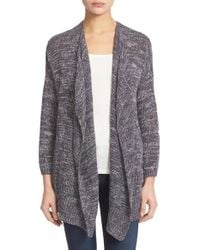 Joie Gray 'nare' Marled Drape Front Cardigan