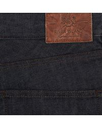 River Island - Blue Dark Wash Clint Bootcut Jeans for Men - Lyst