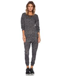 Blue Life Gray Fit Cheetah Mesh Pullover