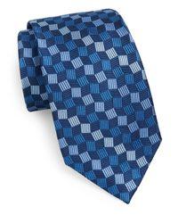 Burma Bibas | Blue Geo Silk Tie for Men | Lyst