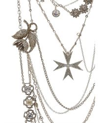 Maria Zureta Metallic Mish Mash Silver Necklace