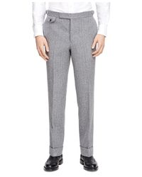 Brooks Brothers Gray Fair Isle Watch Pocket Trousers for men