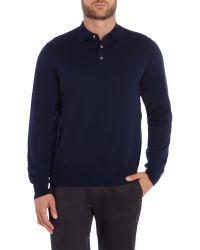 Chester Barrie - Blue Merino Polo Shirt for Men - Lyst