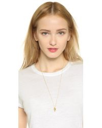 Vita Fede - Metallic Mini Hex Crystal Necklace - Gold - Lyst