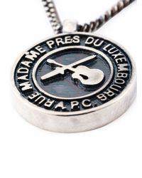 A.P.C. | Metallic Logo Pendant Necklace | Lyst