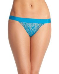 Commando | Blue 'double Take' Lace G-string Thong | Lyst