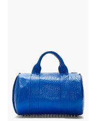 Alexander Wang   Blue Grained Lambskin Rocco Duffle Bag   Lyst