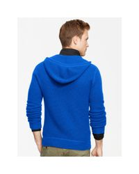Polo Ralph Lauren | Blue Waffle-knit Cashmere Hoodie for Men | Lyst