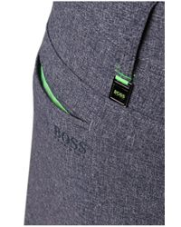 BOSS Green Blue Regular-fit Golfing Trousers: 'hivos Pro' With Texture for men
