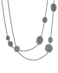 David Yurman | Metallic Cable Coil Chain Station Necklace | Lyst