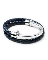 Miansai | Blue Sterling Silver Rovos Half-cuff Woven Bracelet for Men | Lyst