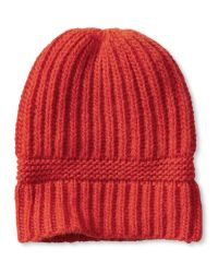 Banana Republic | Orange Ribbed Beanie | Lyst