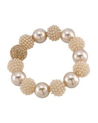Carolee | Natural Pearl And Glass Stone Bracelet | Lyst