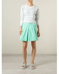 KENZO - Blue Embroidered Sweater - Lyst