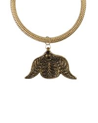 AKIRA - Metallic Maharaja Necklace - Lyst