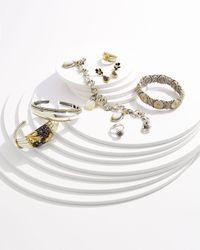 Roberto Coin - Black Diamond Platinum Ring With Diamond Halo - Lyst