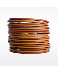 Linea Pelle | Brown Two Tone Sliced Bracelet | Lyst