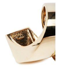 Valentino - Metallic Gold Pearl Ring - Lyst