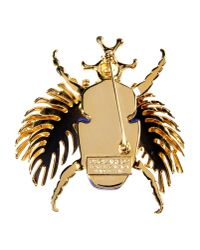 DSquared² - Blue Beetle Brooch - Lyst