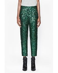 French Connection Black Sequined Skinny Pants