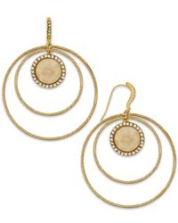 INC International Concepts | Metallic Gold-tone Triple Circle Drop Earrings | Lyst