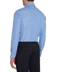Chester Barrie - Blue Contemporary Richard Spaced Stripe Shirt for Men - Lyst