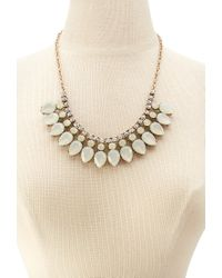 Forever 21 - Metallic Teardrop Necklace And Stud Set - Lyst