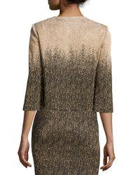 St. John - Multicolor Metallic Ombre Knit Jacket - Lyst