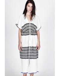 lemlem - White Safara Patio Dress - Lyst