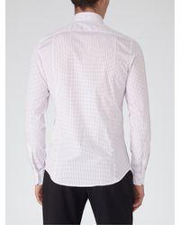 Reiss White Hustler Cotton Long Sleeve Shirt for men