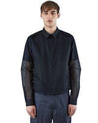 Calvin Klein - Men's Mesh Coach Jacket In Black for Men - Lyst