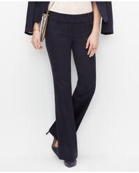 Ann Taylor - Blue Devin Cotton Sateen Trousers - Lyst