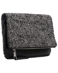 French Connection Gray Silva Clutch Bag