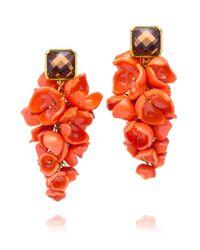 Tory Burch | Red Anais Grape Flower Earring | Lyst