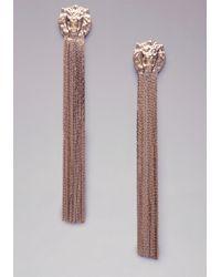 Bebe | Metallic Lion & Snake Chain Earrings | Lyst