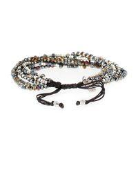 Chan Luu | Black Multi-strand Beaded Bracelet | Lyst