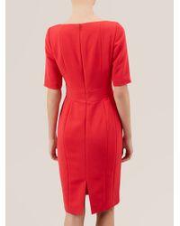 Hobbs Red Megan Dress