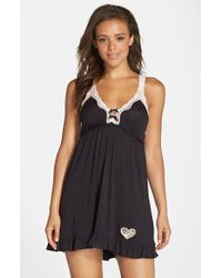 Betsey Johnson | Black Knit Slip | Lyst