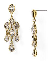 Carolee Metallic Monaco Moments Small Chandelier Earrings