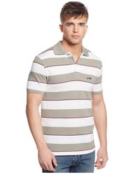 Armani Jeans | Gray Striped Polo for Men | Lyst