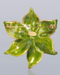 Jay Strongwater Metallic Sonia Daffodil Pin