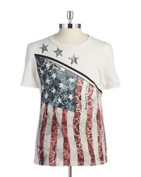 Guess - White Flag Graphic Tee for Men - Lyst