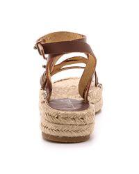 Splendid | Brown Erin Double Espadrille Sandals - Cognac | Lyst