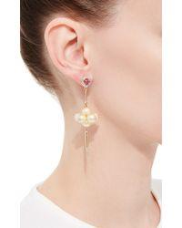 Hanut Singh - Metallic Pearl Grape Earrings - Lyst