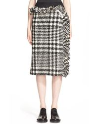 Simone Rocha - Black Asymmetrical Tweed & Tulle Pencil Skirt - Lyst